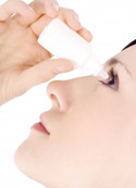 Applying Contact Lens Solution